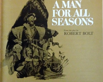 Movie program book for A Man for All Seasons, 1966.