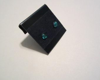 Newborn/Toddler Dec. Birthstone Blue Zircon Hypoallergenic Pierced Earrings