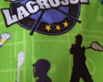 Lacrosse Fleece Tie Blanket