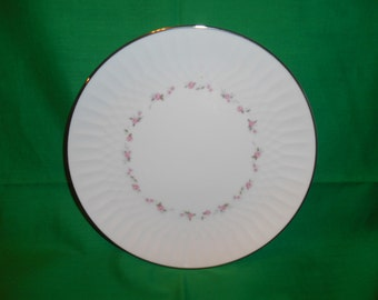"""One  (1), 8 1/4"""" Porcelain Salad Plates, from Noritake, in the Cheri 6352 Pattern."""