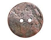 3 Mykonos Cornflake 3/4 inch ( 20 mm ) Bronze Metal Buttons