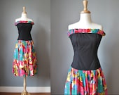 Strapless Dress / Vtg 80s...