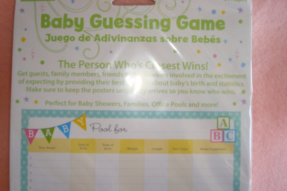 game baby shower games baby office pool unisex baby shower games