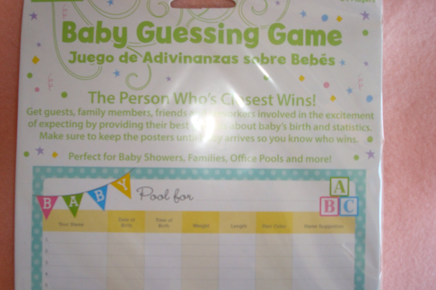 baby guessing game baby shower games baby office pool