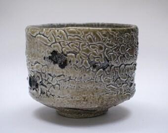 Wood fired Shino glazed Hikidashi Tea Bowl