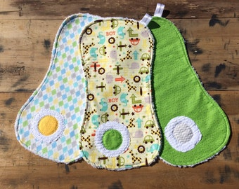 Cars and Animals Burp Cloth Set for Baby/Burp Cloths/Animals/Baby