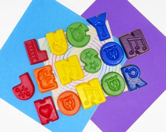 Childrens Personalised Name Crayons, customised gift, educational present