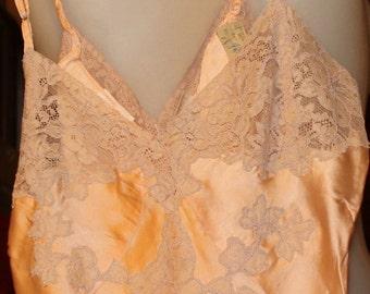 Silk Salmon Colored  Slip 1920s 1930s