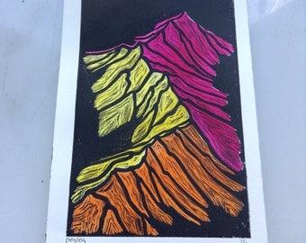 Mountains - warm colours