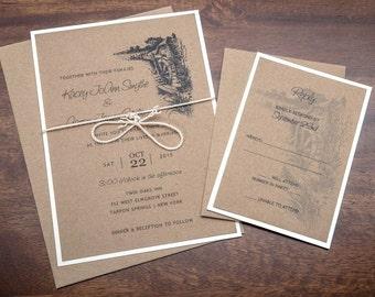 rustic wedding invitation etsy - Country Rustic Wedding Invitations