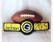 Green Bay Packer Football Crochet Aaron Rodgers Inspired Championship Title Belt Photo Prop