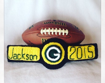 Green Bay Packer Football Crochet Aaron Rodgers Inspired Championship Title Belt Photo Prop