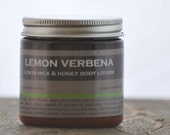 Lemon Verbena Goats Milk Honey Body Lotion - lemon scent lotion - verbena lotion - summer body lotion - herbal scent lotion