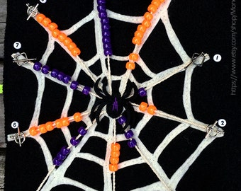 Halloween Spider Web Counting Page