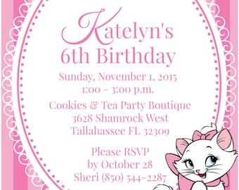 Pretty Kitty Tea Party Invitation