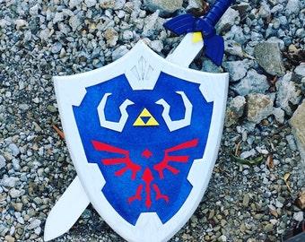 Master Sword Hylian Shield Combo!