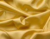 Charmeuse Stretch Solid Gold 60 Inch Fabric by the Yard, 1 Yard