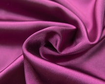 Charmeuse Stretch Solid Wine 60 Inch Fabric by the Yard, 1 Yard