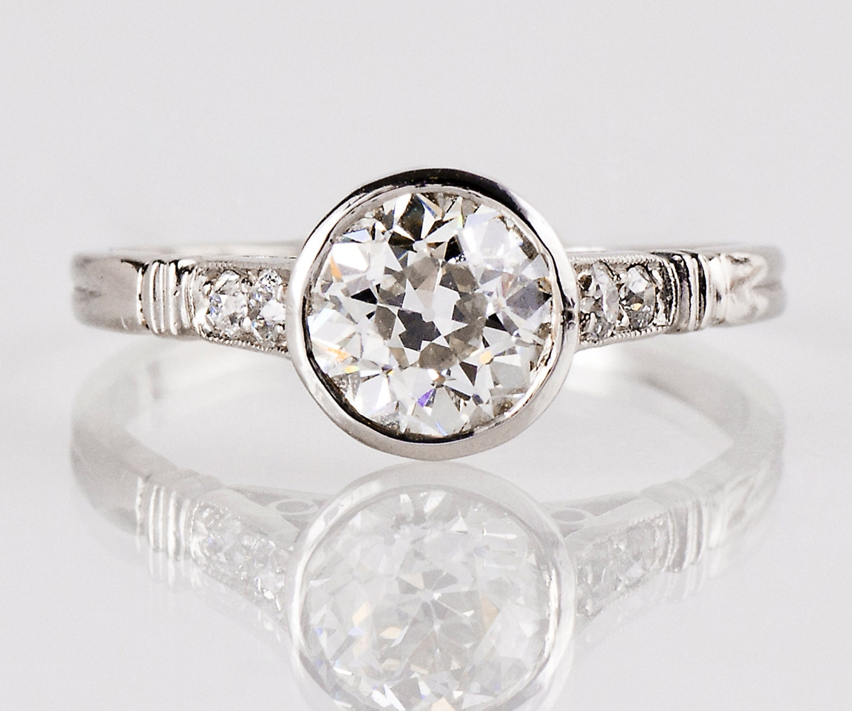 antique 1920s platinum engagement ring