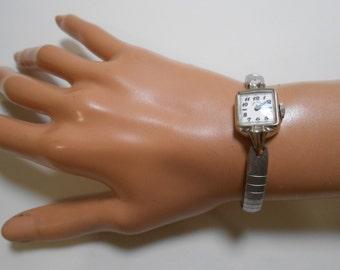 Vintage Lady Elgin Woman Wrist Watch, keeps accurate time