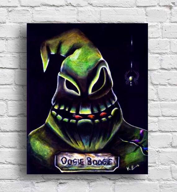 Oogie Boogie Nightmare Before Christmas Tim Burton Wall