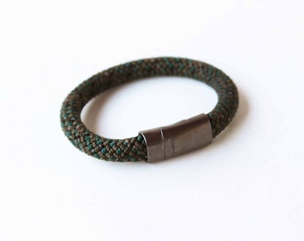 Climbing Rope Bracelet w/ Magnetic Clasp- Green