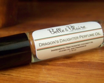 Dragon's Daughter Perfume Oil- Dragon's Blood, Patchouli, Musk, Clove, Vanilla, Amber, Myrrh, Jasmine, Citrus- Roll On Perfume