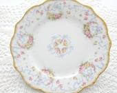 Antique Dessert Plate by Jean Pouyet, Limoges, France, Fine Porcelain Saucer, Tea Party, Replacement China - ca. 1890 - 1906