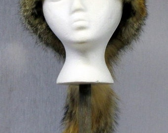 Grey Fox Davy Crockett Hat