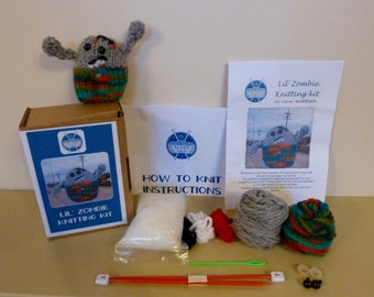 Lil' Zombie Knitting Kit