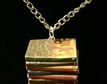 Chronicles of Narnia Mini Book Stack Necklace
