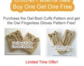Crochet Pattern Sale Boot Cuffs Fingerless Gloves Buy Get One Free Includes Instructions Size Options Photos Limited Time Offer PDF Download