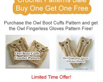Gloves Pattern with Boot Cuffs Crochet Buy Get One Free Sale Includes Instructions Size Options Photos Limited Time Offer PDF Download