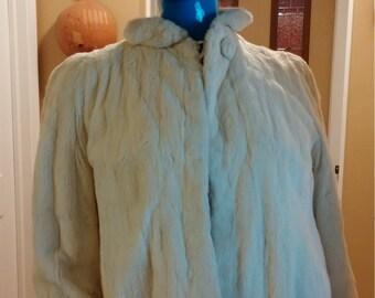 White Ermine Fur Jacket S  Vintage