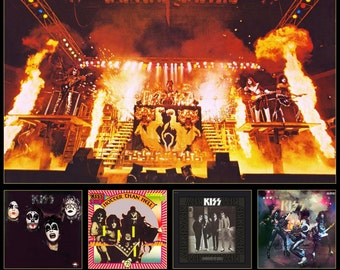 KISS Alive II Custom Counter Top Stand-Up Display - Rock Music Band Collectibles Collection Collector Memorabilia Gift Gene Simmons Army