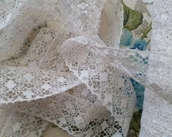 2 yds Gorgeous Antique Quality Elegant Lace Trim | Off White