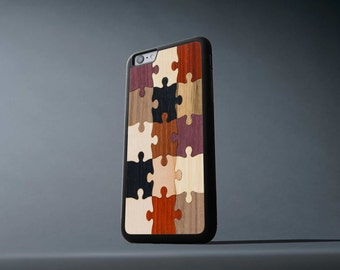 Random Puzzle iPhone 6 Plus / 6s Plus Traveler Wood Case - Made in the USA - FREE Shipping