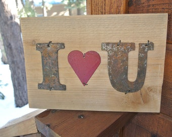 I Love You  - Reclaimed Wood Sign