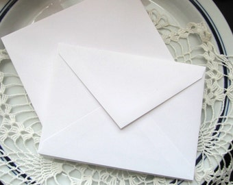 "Small White Envelopes - 4x5"" A1 Bright White Envelopes - Pack of 20"
