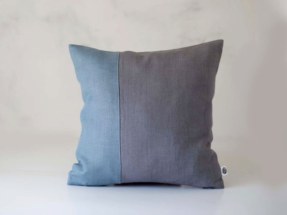 Dusty Blue Decorative Pillows : Throw pillow dusty blue with gray background by pillowlink