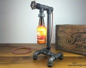 Abita Brewing - Craft Beer Bottle Lamp - Industrial Lighting - Steampunk Furniture - Man Cave - Bar Decor