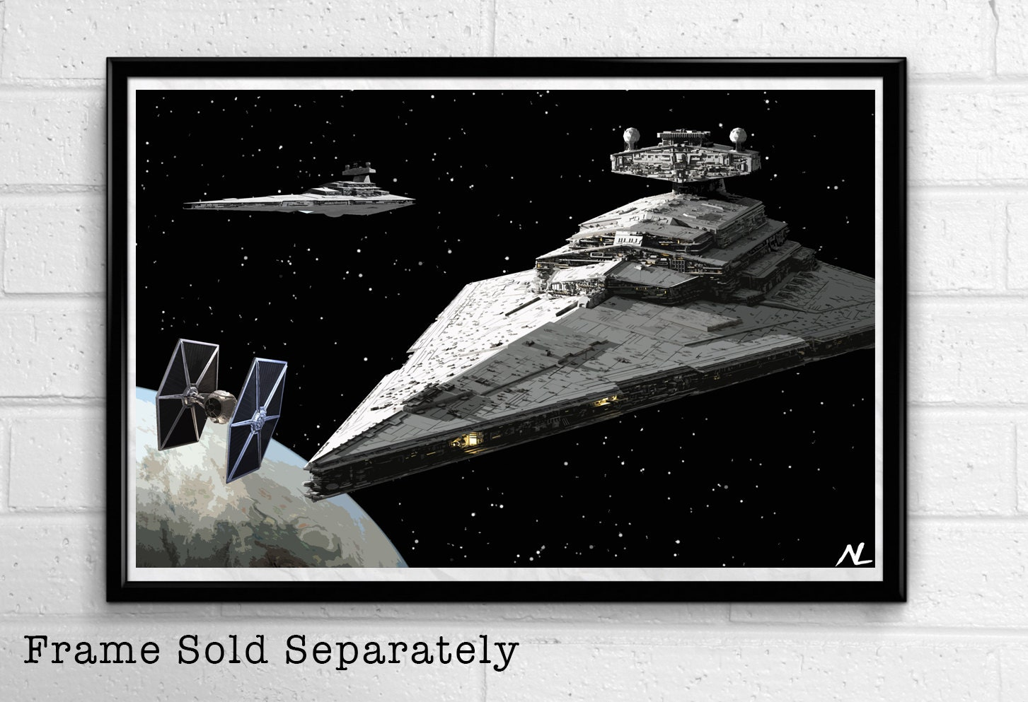 Star wars empire star destroyer sci fi film home decor movie for Sci fi home decor