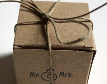 Wedding Favors Boxes, Wedding Date Mr Mrs Box, Rustic Wedding Kraft favors box, Party Favors Box