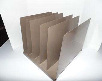 Vintage Hunt Lit-Ning 6 Tier Steel File Organizer Paper Sorter Tray Mid Century