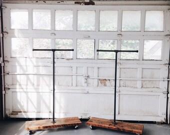 SALE- Reclaimed Wood T-Stand Display Rack