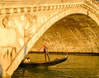 Venice Landscape Photography Print - Italy Europe Cityscape - Rialto Bridge Sunset - MetalPrint Option - 8x12 12x18 20x30 24x36