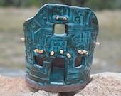 Turquoise Pueblocito Luminaria