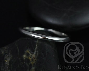 Rosados Box 14kt White Gold Matching to Eva/Elizabeth 8x6mm PLAIN Band (Other Metal Options Available)
