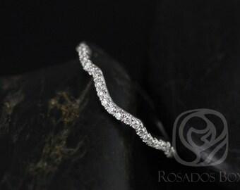 Rosados Box 14kt White Gold Matching Band to Tressa Diamonds HALFWAY Band