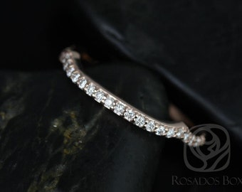 14kt Rose Gold Matching Band to Cassidy/Mara/Orla Diamond HALFWAY Eternity Band (Other Metals Available)